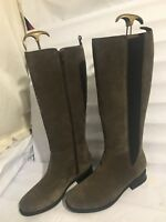 CLARKS GENUINE SUEDE KNEE HIGH GREY RIDING WOMENS LADIES SIZE 5 D BOOTS SHOES