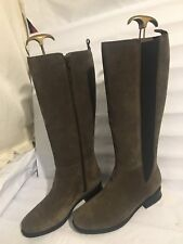 CLARKS GENUINE SUEDE KNEE HIGH GREY RIDING WOMENS LADIES SIZE 7.5  BOOTS SHOES