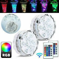 RGB LED Underwater Swimming Pool Light Garden Pond Fish Tank Decor Lamp +Remote
