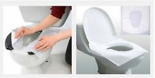 10 pcs TOILET SEAT DISPOSABLE PAPER COVERS HYGIENIC PROTECTIVE BARRIER