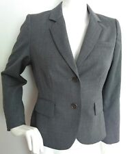 Designer L.K. BENNETT tailored jacket blazer size 12 --MINT-- Wool blend grey