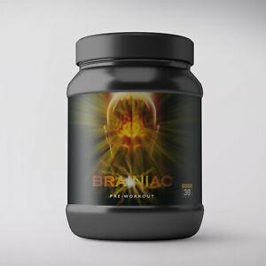 Androgen  Brainiac  Pre-Workout & Brain Energy Support 30 Serving green aple