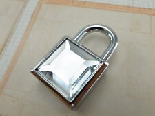 Vintage Style Mini Padlock key Lock with CLEAR COLOR Acrylic Stone - NEW