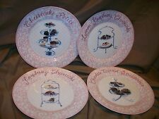 4 DELECTABLE DESSERT PLATES BY JENNIFER SOSIK PM DESIGN GROUP CHEESECAKE LEMON