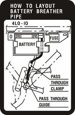 YAMAHA RD250LC & RD350LC  BATTERY WARNING DECAL