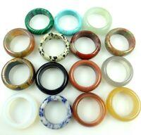 18MM Beautiful Multicolored agate ring GEM/GEMSTONE LOOSE BEADS AB_2