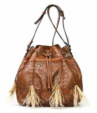 NWT Patricia Nash Laser Lace Collection Picerno Drawstring Bucket Bag P388112