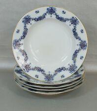 Heinrich Real Cobalt - Courtyard garden - 5 Soup bowl deep Plate Ø 24,3cm