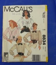 VINTAGE MCCALLS LADIES BUTTON UP BLOUSE PATTERN 8834 SIZE 14  FREE SHIPPING