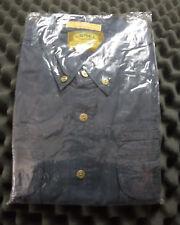 Camel Trophy Adventure Wear Safari Shirt Cargo Button Short Sleeve Blue Size XL