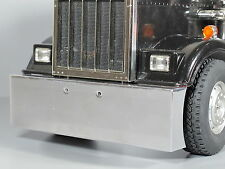 RC Car C27117BLACK CNC F Bumper w//LED for Tamiya 1//14 King Hauler /& Globe Liner