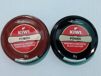 KIWI Shoe Polish Wax Shine BLACK,Brown(Dark Tan) 23g, 36g (Free Shipping)