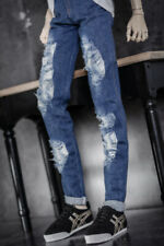 [Pf] Blue Antiquated Ripped Jeans For 1/4 Msd 1/3 Sd Dz Sd17 Bjd Dolls Outfits