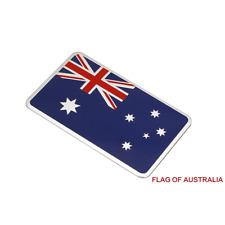 1 Silver Flag of Australia 3D Car Auto Emblem Badge Sticker Decal Chromed Metal