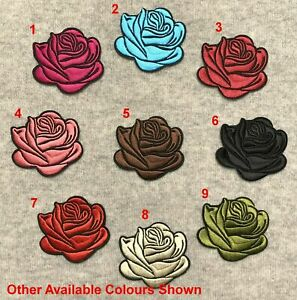 Blooming Rose Flower Petals Embroidery Iron/Sew On Patch Badge Applique