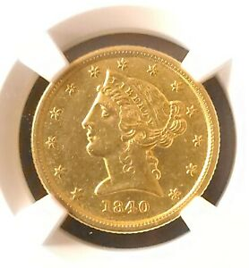 1840 O $5 Gold Coin - NGC Certified