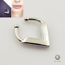 Piercing Simple Triangle Simple Clip on Fake Septum Clicker Cheater Nose Ring