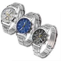 Men's Fashion Luxury Watch Stainless Steel Strap Sport Analog Quartz Wristwatch