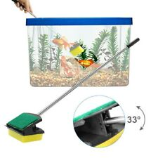 UK Aquarium Cleaning Brush Long Steel Handle Fish Tank Cleaning Tool Sponge HL
