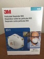 80PACK!3M 8511 Particulate N95 Respirator MASK FILTER Valve Mask $85./FREESHIP