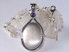 925 Sterling Silver 4 mm Natural Amethyst Locket H2O Just Add Water Mermaids