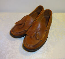 Bass Weejuns Brown Leather Loafers Slip On Tassel Shoes Size 7.5 W Women's
