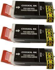 3 Cartouche d'ENCRE imprimante avec puce pour Canon PGI 555 XXL IX6850 MX725