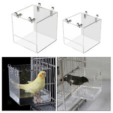 New listing Transparent Acrylic Bird Bath Cage Shower Box for Parrots Finches Lovebird