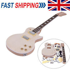 More details for electric guitar diy kit build your own guitar mahogany body neck woodfingerboard