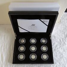 2012 BRITANNIA PORTRAIT SILVER PROOF 9 x £1 COLLECTION - first strike