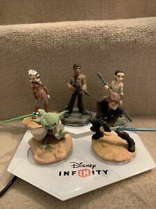 Disney Infinity Microsoft Xbox 360 Base Portal Plate And Star Wars Figures