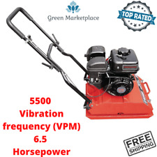 6.5 Hp Plate Compactor Walk Behind 5,500 Vibrations Compact Dirt Soil Gravel New
