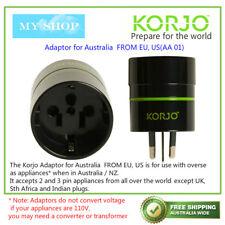 Korjo Adaptor for Europe & USA Plugs in Australia