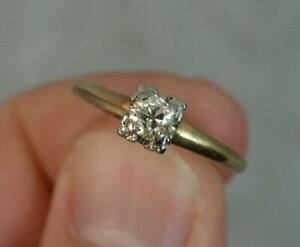 Stunning 0.28 Carat Old Cut Diamond 14ct Gold Solitaire Engagement Ring