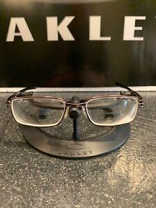 Oakley Rotor 4.0 Eyeglasses Frame | Brushed Chrome with Gunmetal Icon | Free S&H