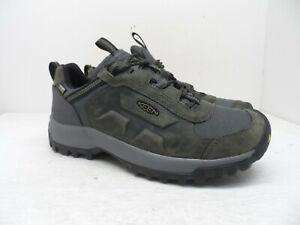 KEEN Men's Basin Ridge WP Trail Hiking Shoe Magnet/Dark Olive 9M