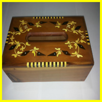 Vintage Wooden Tissue Box Handmade From Morocco Covers Wood Paper Thuya Creative