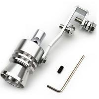 Auto Turbo Sound Endrohr Auspuff Pfeife Turbopfeife Simulator Whistle Silber