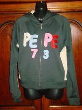 Pepe Jeans UK 73 Hoodie Juniors Size Large Full Zip Hooded Sweatshirt