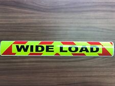 Magnetic sign WIDE LOAD Red chevron Background Escort convoy