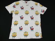 SPONGEBOB SQUARE PANTS & PATRICK STAR - MEDIUM - WHITE T-SHIRT- B1648