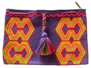 OOAK Traditional and OriginalWayúu MOCHILA Bag Purple in a Large Size - Clutch