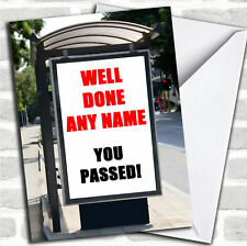 Bus Stop Advert Passed Driving Test Customised Card
