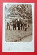 Militär Foto AK DRESDEN Strehlen 1912 Soldaten vor Geschütz mit Husar   ( 28093