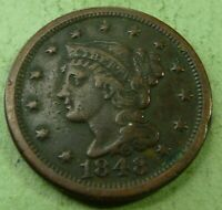 1848 Large Cent   #LC48-5  better coin