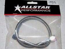 """AllStar braided Stainless Steel Brake Line 15"""" 4 An Staight End 15 inch Length"""