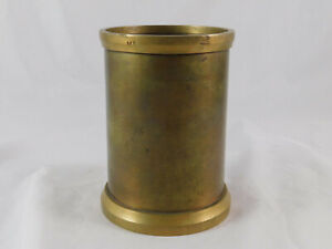 Antique Brass Quart Liquid Measure E&T Fairbanks St Johnsbury Vt