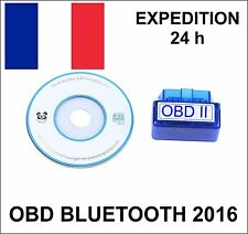 Interface de diagnostique francais OBD2 OBDII BLUETOOTH V 2.1 pour PC et Android