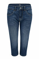 MAC CAPRI summer clean mid blue used look Damen Denim Jeans 5917-90-0371-D582