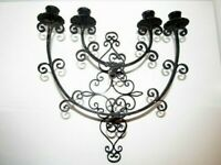 Vintage Scroll Candle Holder Sconce Wrought Iron Wall Mount